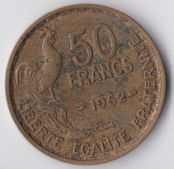 France, 50 Francs 1952, VF, WE898